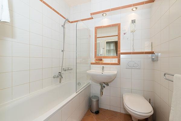 Zweibettzimmer/Badezimmer - Hotel MARC AUREL - Wien